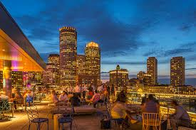 Harborside Grill And Patio Boston Ma Menu by Lookout Rooftop U0026 Bar In Boston Ma The Envoy Hotel Dining