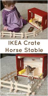 IKEA Hack: Knagglig Wooden Crate Horse Stable For Toy Horses ... Gtin 000772037044 Melissa Doug Fold Go Stable Upcitemdbcom Toy Horse Barn And Corral Pictures Of Horses Homeware Wood Big Red Playset Hayneedle Folding Wooden Dollhouse With Fence 102 Best Most Loved Toys Images On Pinterest Kids Toys Best Bestsellers For Nordstrom And Farmhouse The Land Nod Takealong Sorting Play Pasture Pals Colctible Toysrus