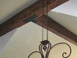 Black Decorative Joist Hangers by Beam Straps Plates Hangers Fake Wood Beam Accessories