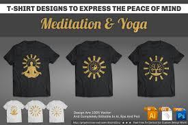 meditation u0026 yoga t shirt designs illustrations creative market