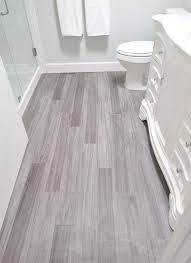 Vinyl Plank Bathroom Floor Budget Friendly Modern Product These Are Trafficmaster Allure In Grey Maple Installed A Random Offset Pattern