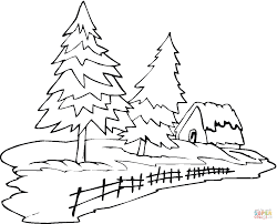 Inspiring Winter Tree Coloring Page Design Ideas