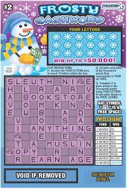 Cabinet Dept Vip Crossword by Frosty Lottery Scratch Ticket A Seller News Eagletribune Com