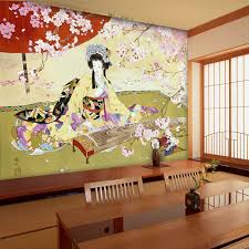 Wholesale Wallpaper Mural Japanese Ladies Picture For Wall Decoration Entertainment Restaurant Bar Living Room Free Shipment In Wallpapers From Home