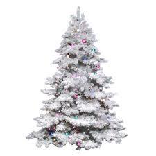 45ft Pre Lit Artificial Christmas Tree Flocked Alaskan