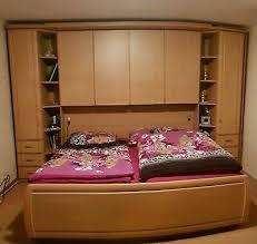 schlafzimmer set bett 2x2m überbau kleiderschrank