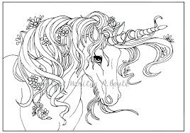 Unicorn Color Pages Large Size Of Printable Coloring Free With Top And Template Rainbow