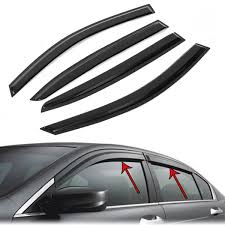Window Vent Visors Shield Rain Guards Sun Deflector For HONDA ACCORD ... How To Install Rain Guards Inchannel And Stickon Weathertech Side Window Deflectors In Stock Avs Color Match Low Profile Oem Style Visors Cc Car Worx Visor For 20151617 Toyota Camry Wv Amazoncom Black Horse 140660 Smoke Guard 4 Pack Automotive Lund Intertional Products Ventvisors And 2014 Jeep Patriot Cars Sun Wind Deflector For Subaru Outback Tapeon Outsidemount Shades Front Door Best Of Where To Find Vent 2015 2016 2017 Set Of 4pcs 1418 Silverado Sierra Crew Cab Shade