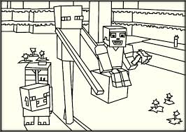 Innovative Minecraft Coloring Pages 41