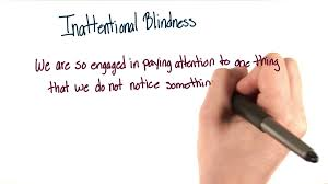 Inattentional blindness Intro to Psychology