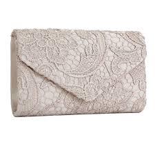 black silver navy blue floral lace evening party clutch bag bridal