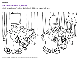 Rahab And The Spies Coloring Page