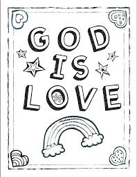 Full Image For Preschool Bible Coloring Pages Thanksgiving Sunday School Sheets God Is Love