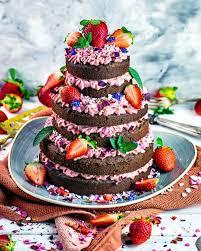 erdbeer schokoladen cake