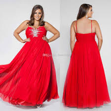 red evening dresses for plus size boutique prom dresses