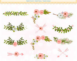 ON SALE Flowers corner clipart pink floral border clipart Text divider clipart