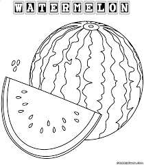 Images Watermelon Coloring Page 70 For Pictures With