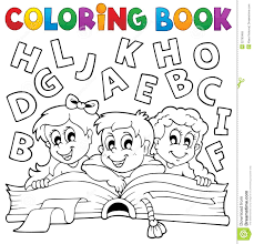 Coloring Pages Printable Royalty Free Book For Children Stock Page Good Alphabet Starting Point To
