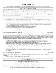Health Care Resume Objective Examples
