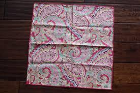 Vera Bradley Bedding Comforters by Vera Bradley Napkins Capri Melon Pink Paisley New Set Of 4
