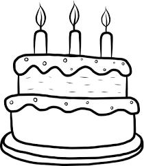Birthday Cake Clip Art Black And White
