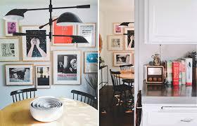cadre cuisine une cuisine scandinave vintage avec chaises à barreaux noires