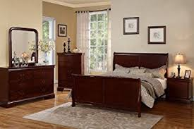 Amazon Louis Phillipe Cherry Queen Size Bedroom Set Featuring