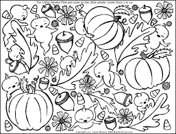 Ten Little Ghosts Coloring Page