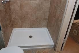 fiberglass shower pan tile can you install flattering fiberglass