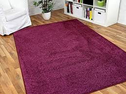hochflor velours teppich triumph brombeere lila in 24 größen