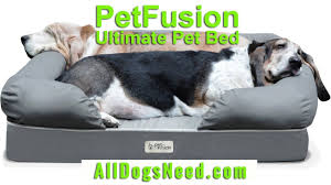 Top Rated Orthopedic Dog Beds by Review Petfusion Ultimate Dog Bed Pet Lounge Youtube