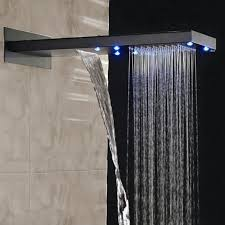 Wall Mounted Led Waterfall Faucet by Waterfall Rain Led Shower Head All In One Installation Manuals