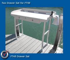 Fish Cleaning Station With Sink by Dock Side Filet Tables 38 Fish Filet Table Overhanging Marine