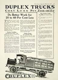 100 Front Wheel Drive Trucks 1919 Ad Duplex Truck Lansing MI 4 Transportation Ton