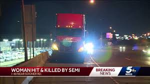 100 Simi Truck Woman 23 Dies After Being Hit By Semitruck While Walking On I40