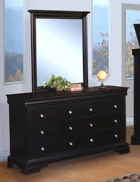 stratford black cherry youth 6 drawer dresser and mirror for