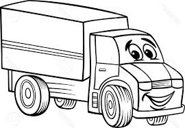 Funny Truck Drawings - Worksheet & Coloring Pages