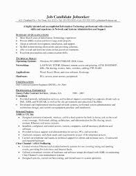 System Administrator Resume Sample Cover Letter For Network Job Fresh Of How