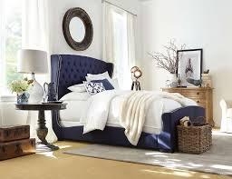 Blue Velvet King Headboard by Amazoncom Skyline Furniture Velvet Tufted King Wingback Ideas Navy