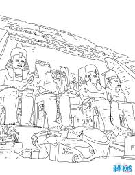 ABU SIMBEL TEMPLE Coloring Page