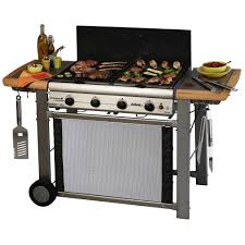 barbecue plancha gaz sur chariot adelaide 4 classic 4 feux 18 6
