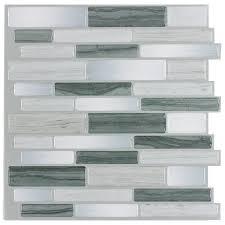 Adhesive Backsplash Tile Kit by Outstanding Self Stick Backsplash Do It Yourself Peel Tile Kit