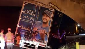 99 Luke Bryan Truck Country Stars Equipment Truck Crashes Into Long Island Overpass