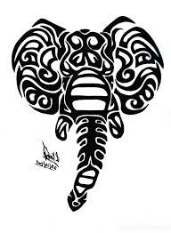 Elephant Pumpkin Carving Pattern by Tribal Elephant Tattoo Designs Tribal Elephant Tattoo On Ankle