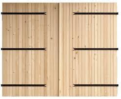 de garage à deux vantaux en bois d épicéa h 2 m l 2 40 m