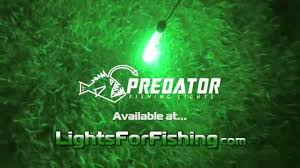 Underwater LED Fishing Lights 100 Foot Depth Rating in Green and