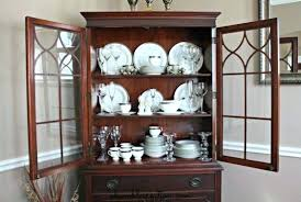 How To Decorate A China Cabinet China Cabinet Idea How To Decorate A