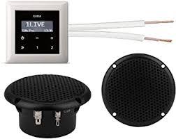 gira unterputz radio unterputzradio 228405 schwarzglasoptik