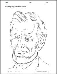 Heres A Fun Coloring Page Featuring Americas Sixteenth President Abraham Lincoln Free To Print PDF File