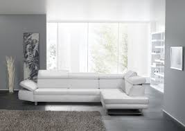 canape cuir blanc avec chaise longue 4 places bandibandi